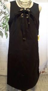 Jessica Simpson black dress grommet detail size 14